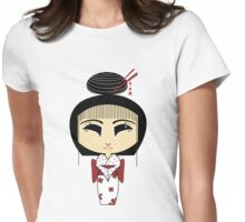 A Happy Geisha Womens Fitted T-Shirt