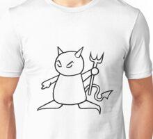 The Little Devil (Black on White) Unisex T-Shirt