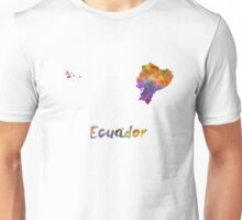 Ecuador in watercolor Unisex T-Shirt