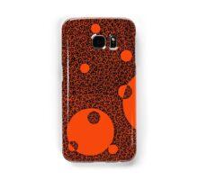Phone Harmonics (Black on Orange) Samsung Galaxy Case/Skin