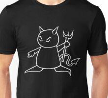 The Little Devil (White on Black) Unisex T-Shirt