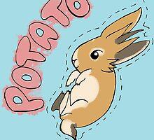 Potato Bunny by KisaSunrise