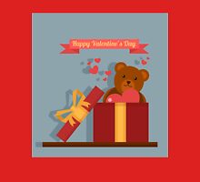 Happy Valentine's Day Greeting Cards. Air Baloon, Present with Love, Cupcake and Whale T-Shirt