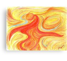 Red Dancer Abstract Art Canvas Print