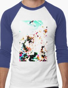 Abstract Spring Blossom, White. Men's Baseball ¾ T-Shirt