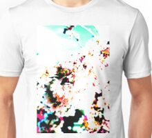 Abstract Spring Blossom, White. Unisex T-Shirt