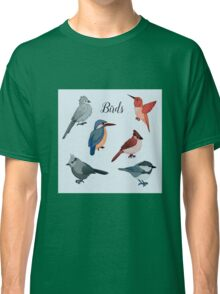 Birds Set in Hand Drawn Style. Vector illustration Classic T-Shirt