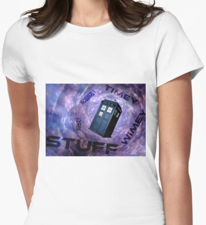 Timey Wimey Stuff Womens Fitted T-Shirt
