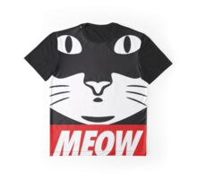 Obey Cat Meow Graphic T-Shirt