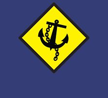 Navy Anchor warning sign yellow Unisex T-Shirt