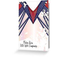 Madison Kocian 2015 World Championships Greeting Card