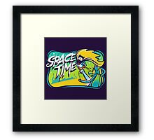 Space Time Adventure Time Framed Print