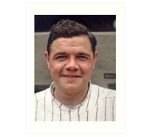 Colorization - Babe Ruth Art Print