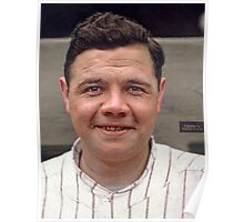 Colorization - Babe Ruth Poster