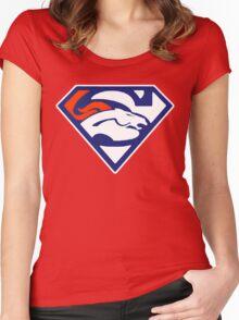 Super Denver Broncos Women's Fitted Scoop T-Shirt