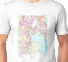 USGS TOPO Map Rhode Island RI East Greenwich 353284 1957 24000 Unisex T-Shirt