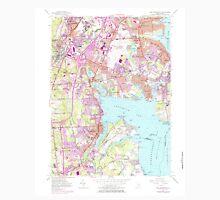 USGS TOPO Map Rhode Island RI East Greenwich 353284 1957 24000 T-Shirt