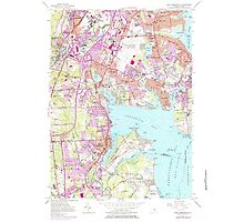 USGS TOPO Map Rhode Island RI East Greenwich 353284 1957 24000 Photographic Print