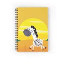 Illustration of cute Zebra in Nature Spiral Notebook
