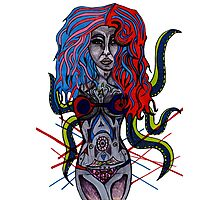 Lady Tentacle Photographic Print