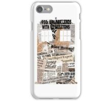 Doctor Who - TARDIS newspaper articles iPhone Case/Skin
