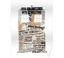Doctor Who - TARDIS newspaper articles Poster