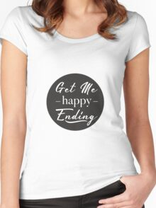 happy ending Women's Fitted Scoop T-Shirt