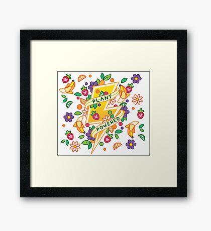 Plant Powered Framed Print