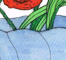 Corn Poppy Sticker