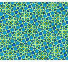 Vivid Geometry: Pineapple Blue Photographic Print