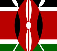 Kenya Flag Stickers Sticker