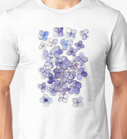 Hydrangeas Flowers Unisex T-Shirt