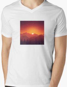 Sunrise on a Mountain Mens V-Neck T-Shirt