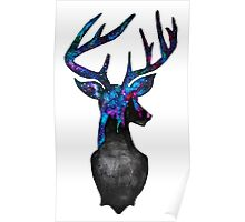 Double Exposure Harry Potter Stag Hogwarts Silhoutette Poster