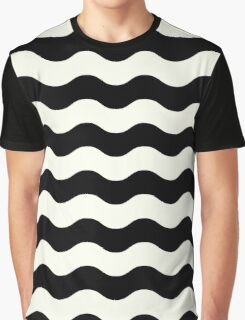 Abstract wave Pattern - black and white Graphic T-Shirt
