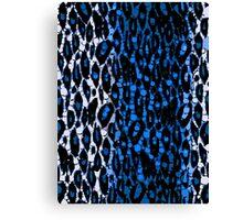 Bright Blue Animal Print Abstract  Canvas Print