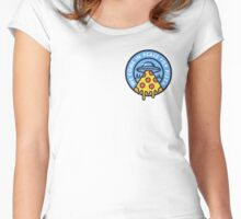 WE COME IN PEACE FOR PIZZA Women's Fitted Scoop T-Shirt