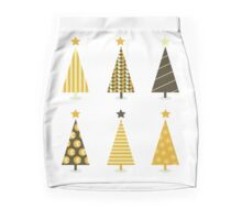 Beautiful Retro Xmas Tree Mini Skirt