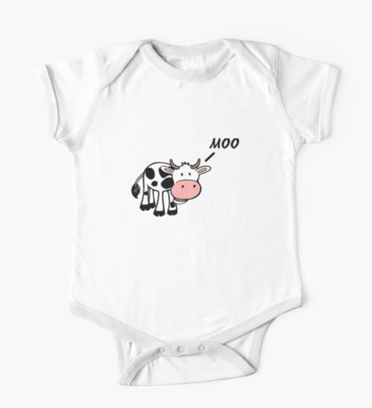 Moo Cow One Piece - Short Sleeve