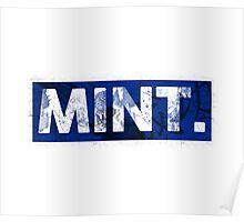 Mint.   Blue Poster