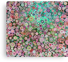 Oil circles in pink halftones Canvas Print