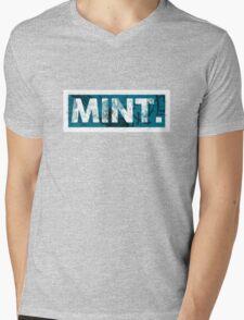Mint. | Cyan  Mens V-Neck T-Shirt