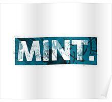 Mint.   Cyan  Poster