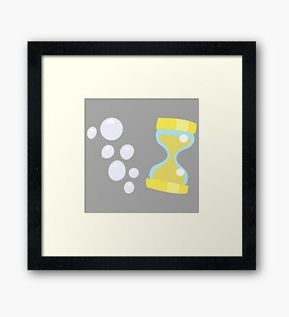 My little Pony - Derpy Hooves + Dr Whooves Cutie Mark Framed Print
