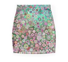 Oil circles in pink halftones Mini Skirt