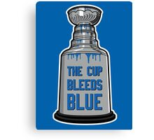 The Cup Bleeds Blue - New York Rangers Stanley Cup Playoff Shirt Canvas Print