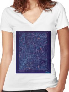 USGS TOPO Map Connecticut CT Gilead 331031 1892 62500 Inverted Women's Fitted V-Neck T-Shirt