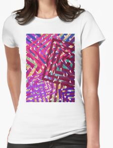 Abstract Geometrics Womens Fitted T-Shirt