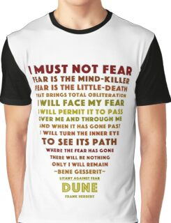 Litany Against Fear Graphic T-Shirt