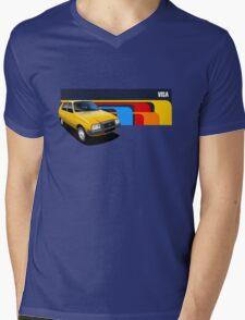 T-shirt Car Art - Yellow Citroen Visa Mens V-Neck T-Shirt